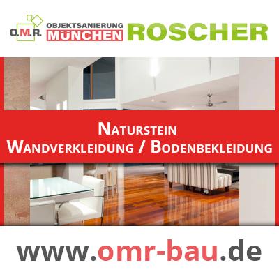 Innenausbau München - Naturstein Wandverkleidung, Bodenbekleidung